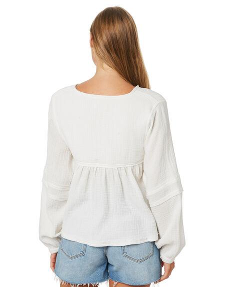 WHITE WOMENS CLOTHING ELWOOD FASHION TOPS - W02301WHT