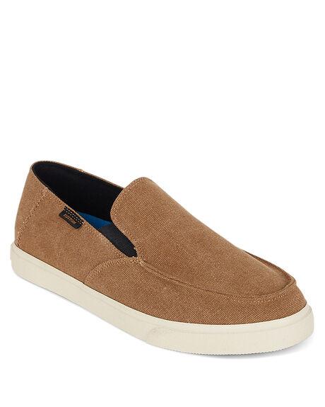 BROWN MENS FOOTWEAR KUSTOM SLIP ONS - KS-4993119-BRN