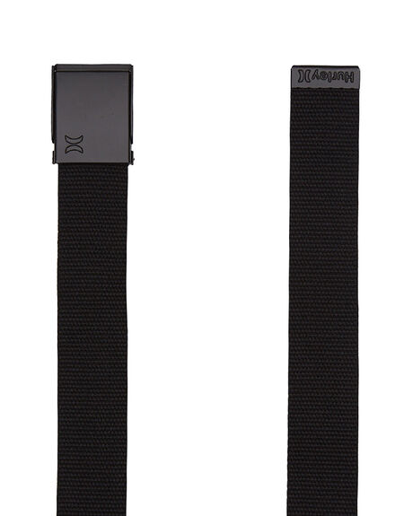 BLACK MENS ACCESSORIES HURLEY BELTS - AMTBTWBBLK