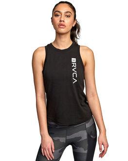 BLACK WOMENS CLOTHING RVCA ACTIVEWEAR - RV-R492873-BLK