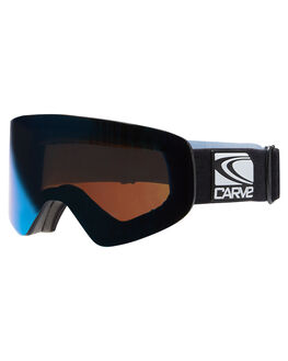 MATT BLK BLUE REVO SNOW ACCESSORIES CARVE GOGGLES - 6070BKBL