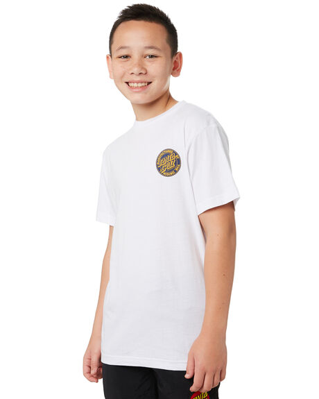 WHITE KIDS BOYS SANTA CRUZ TOPS - SC-YTA0362WHT