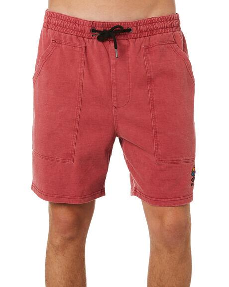 RED MENS CLOTHING RIP CURL SHORTS - CWAAS90040