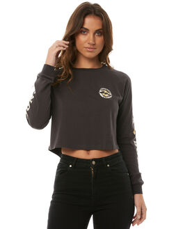 OFF BLACK WOMENS CLOTHING BILLABONG TEES - 6585071BLK