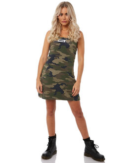 CAMO WOMENS CLOTHING STUSSY DRESSES - ST181512CAMO