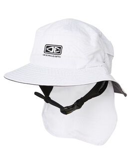 WHITE KIDS BOYS OCEAN AND EARTH HEADWEAR - SBHA02WHI