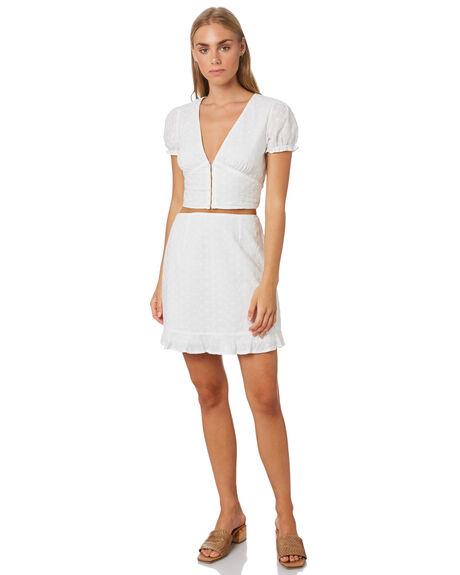 WHITE WOMENS CLOTHING LULU AND ROSE SKIRTS - LU23885WHT