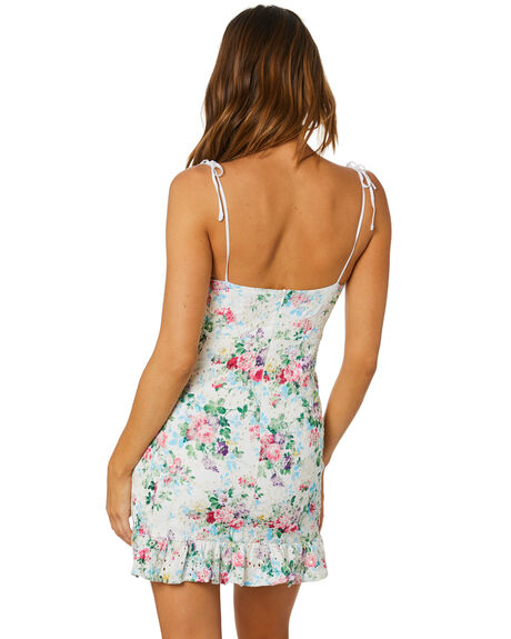 WHITE FLORAL WOMENS CLOTHING SNDYS DRESSES - SFD386WFLR