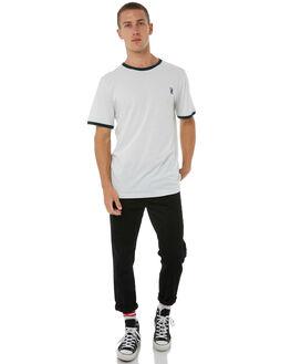 SILVER BLEACH MENS CLOTHING RVCA TEES - R183048ASBLCH