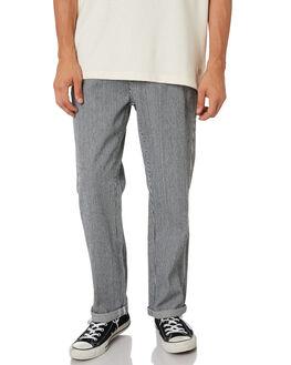 BLACK WHITE STRIPE MENS CLOTHING THRILLS PANTS - TDP-424ZBLKWH