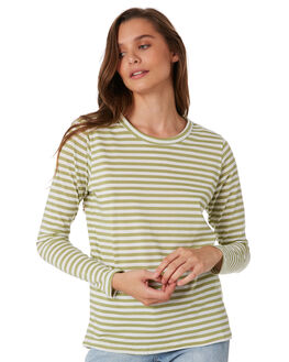 OLIVE STRIPE WOMENS CLOTHING NUDE LUCY TEES - NU23033SOLIS