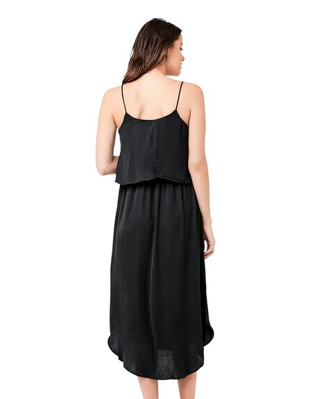 BLACK WOMENS CLOTHING RIPE MATERNITY DRESSES - S1059-BLACK-XS