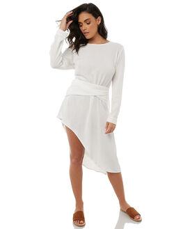 WARM WHITE WOMENS CLOTHING ZULU AND ZEPHYR DRESSES - ZZ1854WWHT