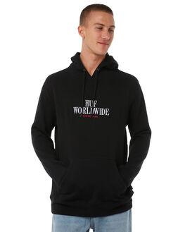 BLACK MENS CLOTHING HUF JUMPERS - PF00031BLK