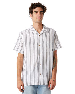 WHITE MENS CLOTHING STUSSY SHIRTS - ST092402WHITE