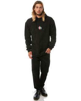 BLACK MENS CLOTHING STUSSY JUMPERS - ST081200BLK
