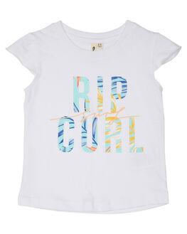 WHITE KIDS TODDLER GIRLS RIP CURL TOPS - FTEBR11000