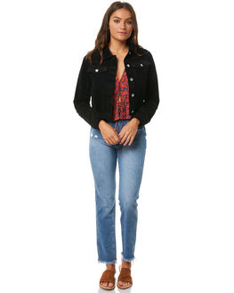 BLACK WOMENS CLOTHING ROLLAS JACKETS - 12571BLK