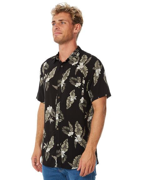 VINTAGE BLACK MENS CLOTHING RHYTHM SHIRTS - APR18M-WT04-BLK