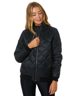 BLACK WOMENS CLOTHING PATAGONIA JACKETS - 28106BLK
