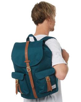 DEEP TEAL TAN MENS ACCESSORIES HERSCHEL SUPPLY CO BAGS + BACKPACKS - 10233-02108-OSTEAL