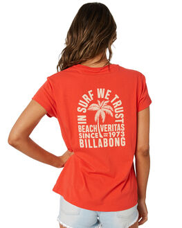 RED WOMENS CLOTHING BILLABONG TEES - 6582012RED