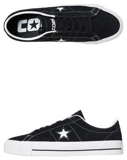 BLACK WHITE TONGUE MENS FOOTWEAR CONVERSE SNEAKERS - SS159579BKWH2M