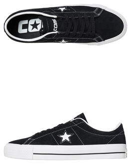BLACK WHITE TONGUE MENS FOOTWEAR CONVERSE SNEAKERS - SS159579BKWH2W