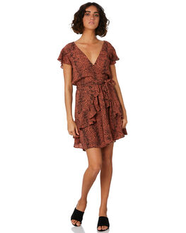BROWN RUST WOMENS CLOTHING MINKPINK DRESSES - MP1904463BRST