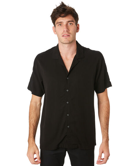 BLACK OUTLET MENS GLOBE SHIRTS - GB01914014BLK