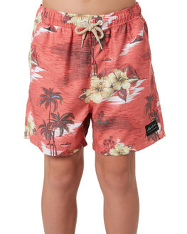 RED KIDS BOYS RIP CURL BOARDSHORTS - KBOMX1-0040