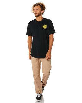 BLACK MENS CLOTHING SANTA CRUZ TEES - SC-MTA9159BLK