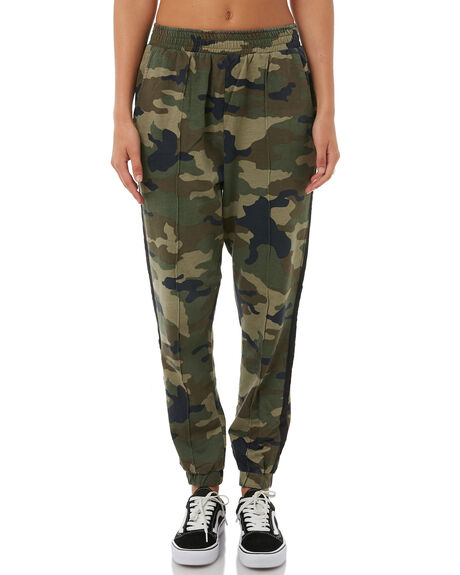 CAMO WOMENS CLOTHING STUSSY PANTS - ST185608CAMO