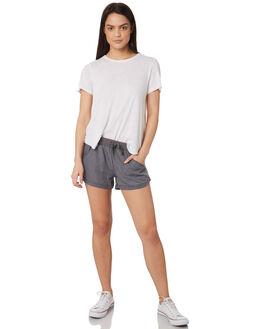 GREY WOMENS CLOTHING RUSTY SHORTS - WKL0590GYS