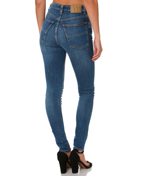 MID INDIGO WOMENS CLOTHING NUDIE JEANS CO JEANS - 113091IND