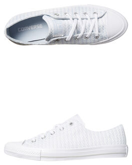 POPOSE WHITE MOUSE WOMENS FOOTWEAR CONVERSE SNEAKERS - 555877PWM