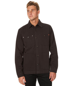 GREY BLACK MENS CLOTHING OURCASTE JACKETS - O1013GRYBK