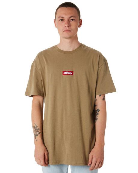 SAGE GREEN MENS CLOTHING STUSSY TEES - ST073015SGRN