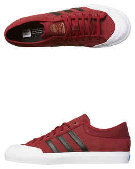 BURGUNDY BLACK WHITE MENS FOOTWEAR ADIDAS ORIGINALS SKATE SHOES - BY3984BUR