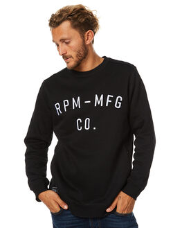 BLACK MENS CLOTHING RPM JUMPERS - 7WMT13ABLK