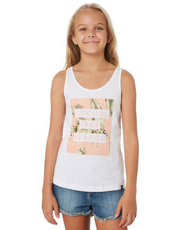 WHITE KIDS GIRLS RIP CURL TOPS - JTEEB11000