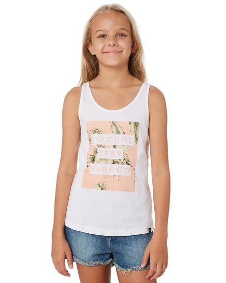 WHITE KIDS GIRLS RIP CURL TOPS - JTEEB11000