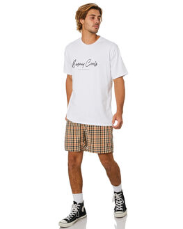 BEIGE CHECK MENS CLOTHING BARNEY COOLS SHORTS - 613-Q120BCHK