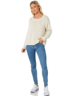 OATMEAL WOMENS CLOTHING ALL ABOUT EVE KNITS + CARDIGANS - 6413066CRM