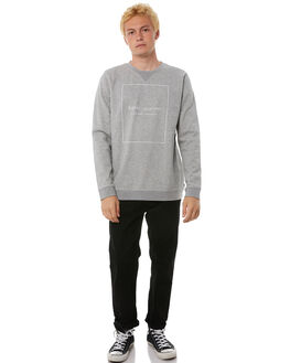 HEATHER GREY MENS CLOTHING BANKS JUMPERS - WFL0112HGR