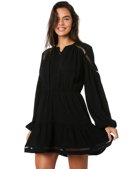 BLACK WOMENS CLOTHING MINKPINK DRESSES - MP1909460BLK