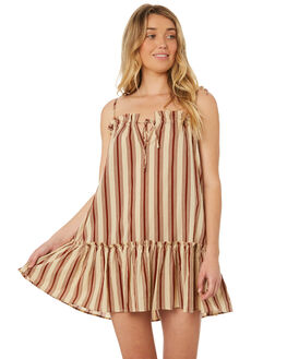 BROWN STRIPE OUTLET WOMENS RUE STIIC DRESSES - WS18-18-BS-CBBRSTR