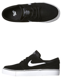BLACK WHITE KIDS BOYS NIKE SNEAKERS - 525104-021