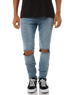 SHIFT BLUE MENS CLOTHING CHEAP MONDAY JEANS - 0500615SHFTB