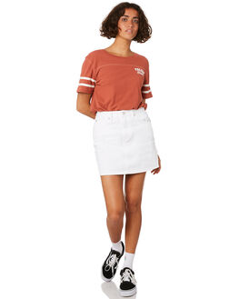 WHITE WOMENS CLOTHING VOLCOM SKIRTS - B1911900WHT